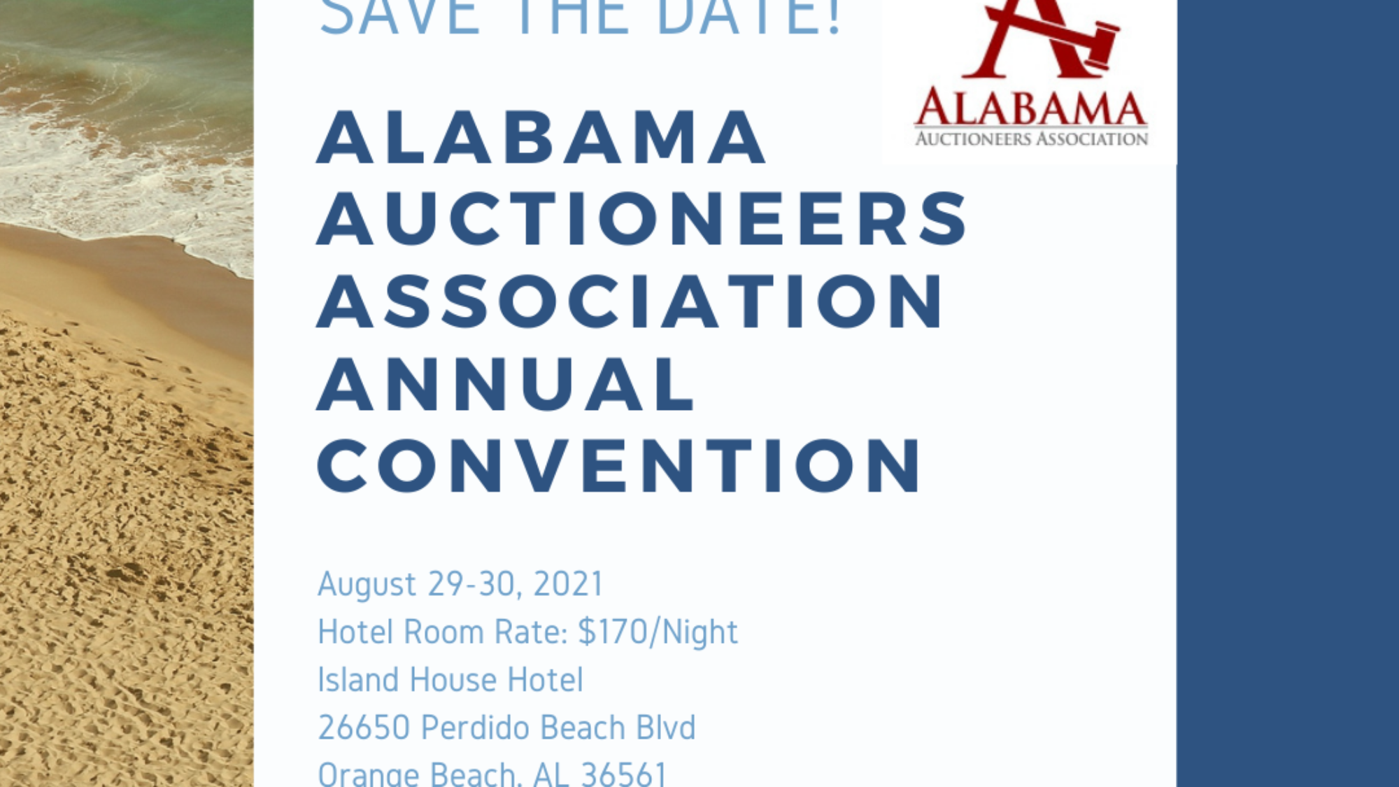 Alabama Save the date 2021
